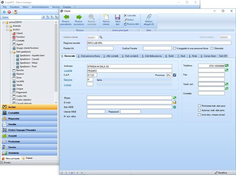 Software di contabilita facile cogenet gestionale erp for Facile software di progettazione di mobili