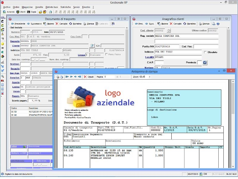 Click to view Gestionale XP 4.16 screenshot