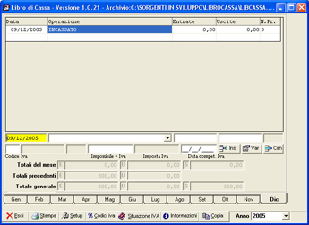Click to view LIbro di cassa 4.3 screenshot