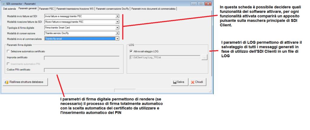 fattura elettronica - parametri - scheda parametri generali